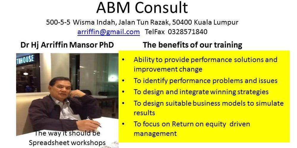 MANAGEMENT BY RETURN ON EQUITY :a business model applicable to all managers