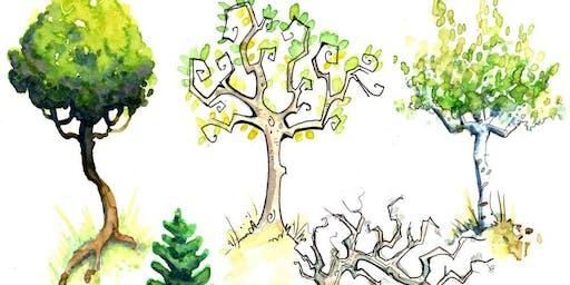 Illustrative Watercolor - Tree Study