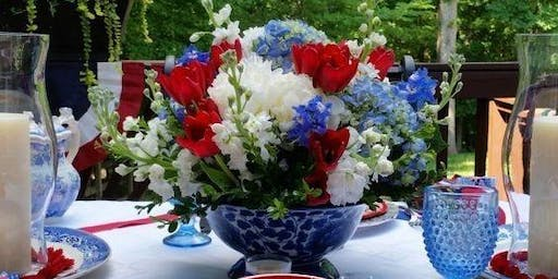 Red, White and Bloom! 4th of July inspired Flower arrangement workshop