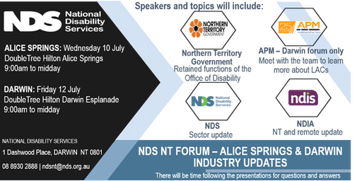 NDS NT INDUSTRY UPDATES FORUM: ALICE SPRINGS