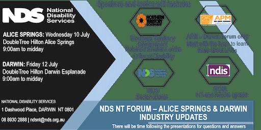 NDS NT INDUSTRY UPDATES FORUM: DARWIN