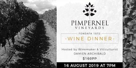 Pimpernel Vineyards Wine Dinner at Fondata 1872 tickets