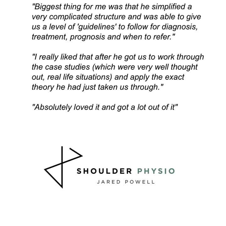 Shoulder Physio Workshop - Melbourne image