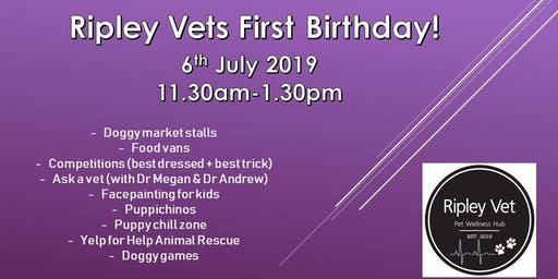 Ripley Vet Hospital's 1st Birthday