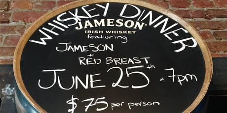 Jameson Red Breast Whiskey Dinner tickets