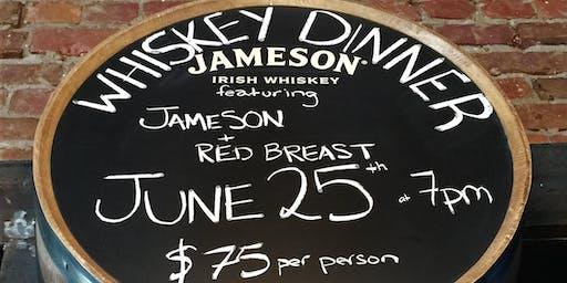 Jameson Red Breast Whiskey Dinner