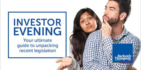 What does all the new Legislation mean for Investors? tickets