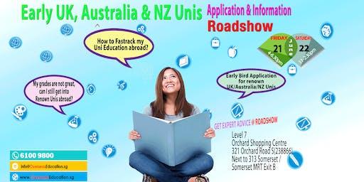 Early UK/Australia/NZ Unis Application & Info Open House (Fri & Sat)