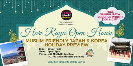 Hari Raya Open House: Muslim-Friendly Japan & Korea Holiday Preview tickets