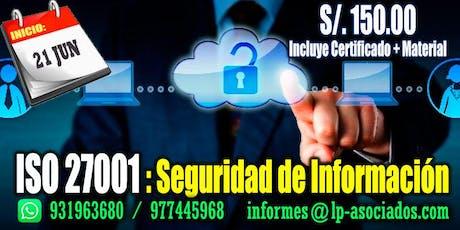 ISO 27001: Seguridad de Información entradas