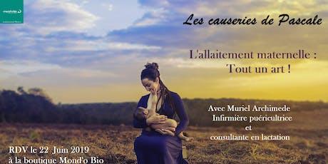 L'allaitement maternelle : Tout un art ! billets