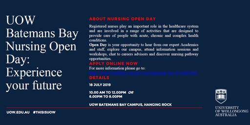 UOW Batemans Bay Nursing Open Day: Experience Your Future
