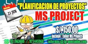 """CURSO: PLANIFICACIÓN DE PROYECTOS + Taller con """"MS..."""
