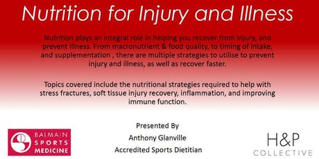 Nutrition for Injury and Illness tickets