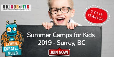 Summer Camps in Surrey, BC- Robotics, Coding, Drone, 3D Printing