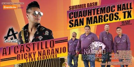 AJ Castillo   Ricky Naranjo Y Los Gamblers - July 13, 2019 in San Marcos, TX tickets
