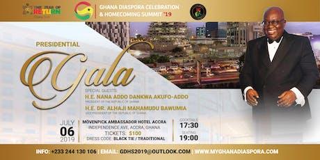 Ghana Diaspora Celebration & Homecoming Summit PRESIDENTIAL GALA tickets