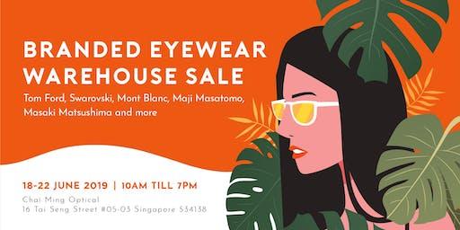 Branded Eyewear Warehouse Sale