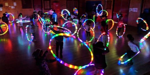 Rainbow Glowing LED Hula Hoop Rave - Ages 12 - 18 - Winter 2019
