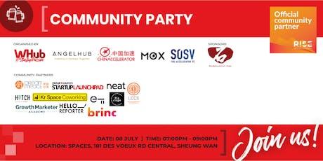 Community Party - RISE - WHub x SOSV tickets