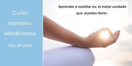 Curso Intensivo Mindfulness 28 y 29 JUNIO entradas