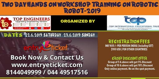 TWO DAY HANDS ON WORKSHOP TRAINING ON ROBOTICS 2019