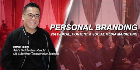 PERSONAL BRANDING via Digital, Content & Social Media Marketing tickets