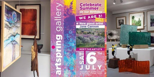 ArtSpring Gallery is Turning 3 – Come and Join the Artists Celebrate