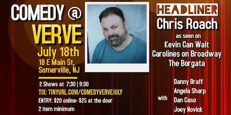 Comedy at Verve on July 18th tickets