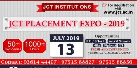 JCT PLACEMENT EXPO 2019