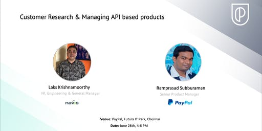 Customer Research & Managing API Based Products w/ Navis & PayPal