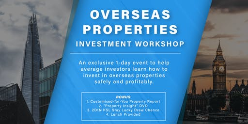1-Day Property Investment Workshop - Case Studies Included!