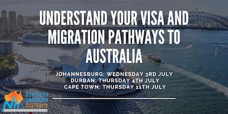 Understand your Visa and Migration pathways to Australia (Johannesburg) tickets
