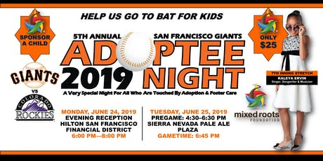 5th Annual SF Giants Adoptee Night + VIP Pregame Reception Ft. KALEYA  tickets