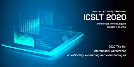 2020 6th International Conference on e-Society, e-Learning and e-Technologies (ICSLT 2020) tickets