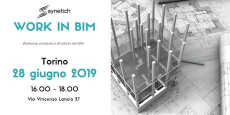 Work in BIM - Workshop introduttivo al BIM biglietti