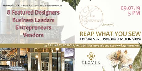 REAP WHAT YOU SEW VENDORS tickets
