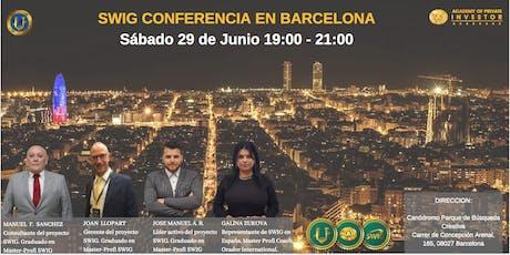 Te invitamos a nuestro evento de SWIG y STO CRYPTOUNIT en BARCELONA. entradas
