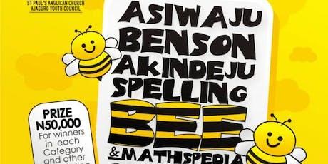 ASIWAJU BENSON AKINDEJU SPELLING BEE AND MATHSPEDIA COMPETITION tickets
