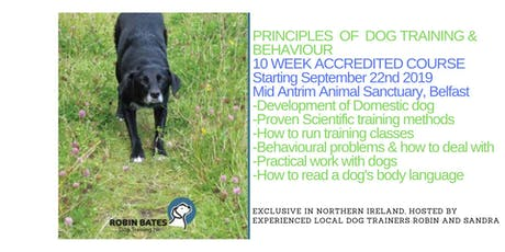 Principles of Dog Training and Behaviour OCN NI 10 Wk Accredited Course tickets