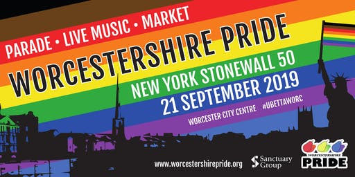Worcestershire Pride Parade 2019 - Group Registration