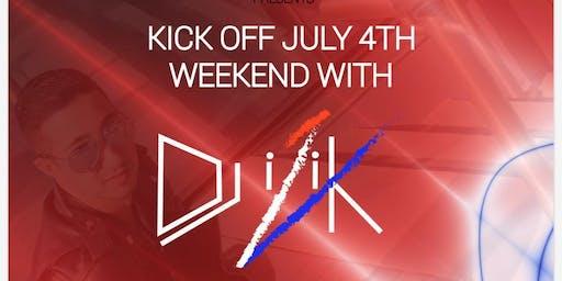 Kick off July 4th weekend with Dj iZik