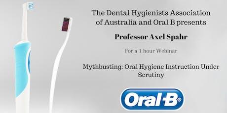 DHAA Webinar - Oral B. Mythbusting: Oral Hygiene Instruction Under Scrutiny tickets