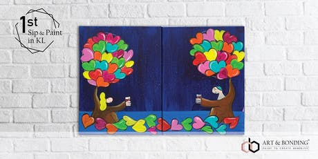 Sip & Paint Date Night (For Couple/BFF/Family) : Coplu's Cheers Based on Love tickets
