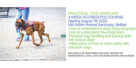 Practical Dog Handling OCN NI 4 Wk Accredited Course led by Robin Bates tickets