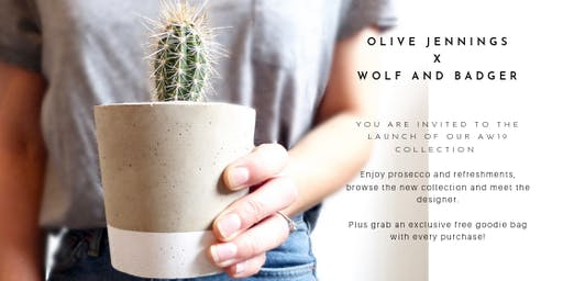 Olive Jennings x Wolf and Badger Launch Event