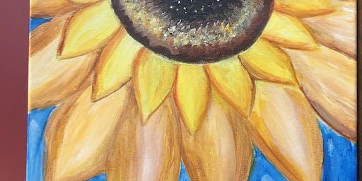 Kids Sunflower Sip & Paint