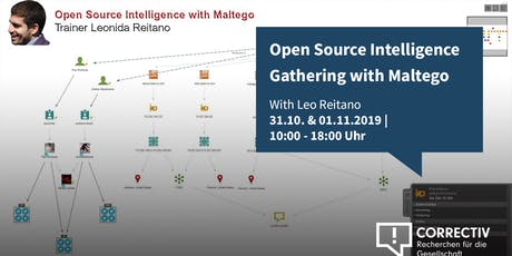 Day 1 – Advanced Open Source Intelligence Gathering with Maltego and Paterva Ctas – Workshop with Leo Reitano Tickets