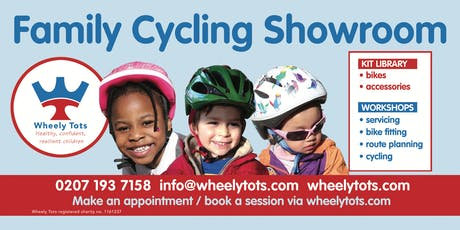 Visit the Wheely Tots Family Cycling Showroom tickets