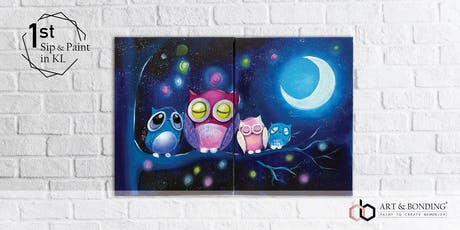 Sip & Paint Date Night (For Couple/BFF/Family) : Sleeping Owls tickets